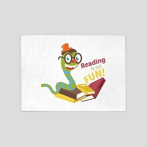 Reading is so fun 5'x7'Area Rug
