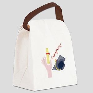 Congrats! Canvas Lunch Bag