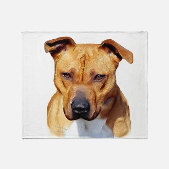 Pitbull Throw Blanket
