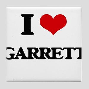 I Love Garrett Tile Coaster