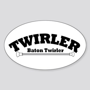 TWIRLER Oval Sticker