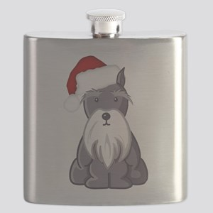Santa Schnauzer Flask