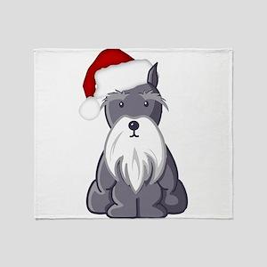 Santa Schnauzer Throw Blanket