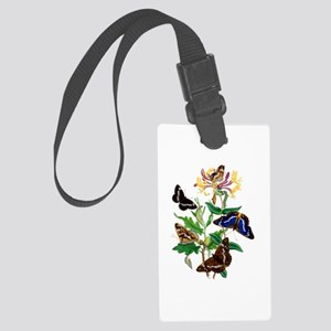 BUTTERFLIES AND HONEYSUCKLE Large Luggage Tag