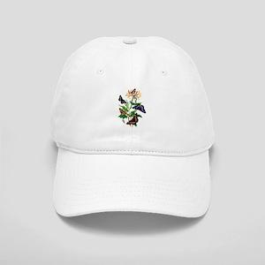 BUTTERFLIES AND HONEYSUCKLE Cap