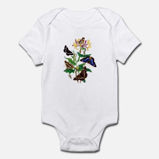 BUTTERFLIES AND HONEYSUCKLE Infant Bodysuit