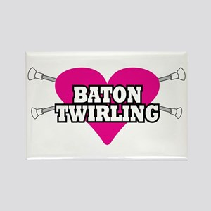 I Heart Baton Twirling Rectangle Magnet