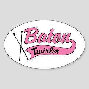 Baton Twirler Oval Sticker
