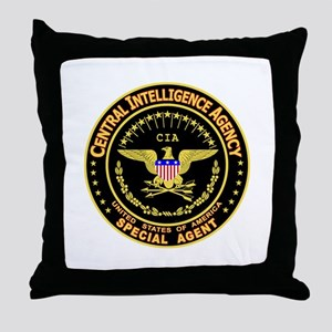 CIA CIA CIA Throw Pillow
