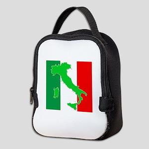 italy flag 06 Neoprene Lunch Bag