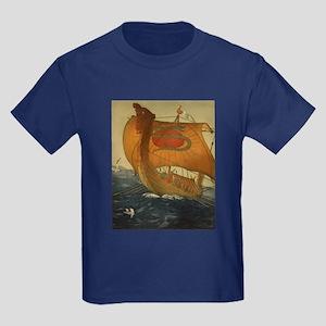 Viking Ship Kids Dark T-Shirt