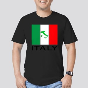 italy flag 00 Men's Fitted T-Shirt (dark)