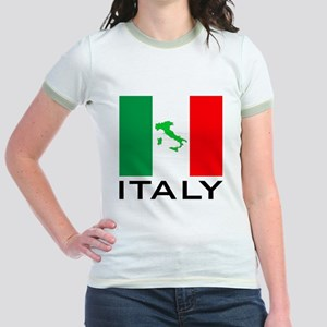 italy flag 00 Jr. Ringer T-Shirt