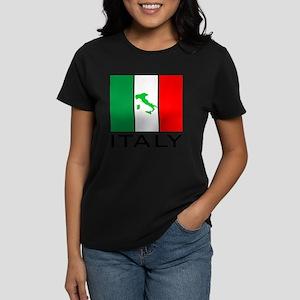 italy flag 00 Women's Dark T-Shirt
