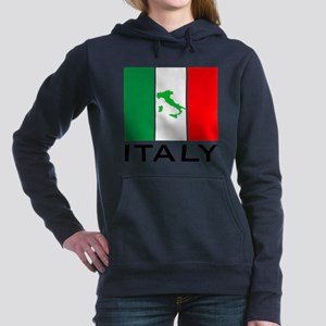 italy flag 00 Women's Hooded Sweatshirt