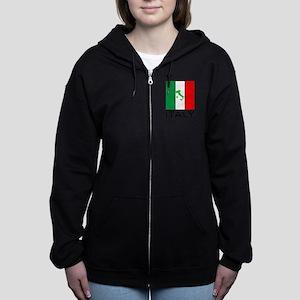 italy flag 00 Women's Zip Hoodie