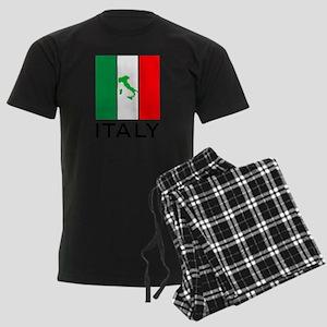 italy flag 00 Men's Dark Pajamas