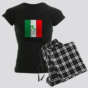 italy flag 00 Women's Dark Pajamas