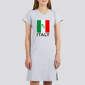 italy flag 00 Women's Nightshirt