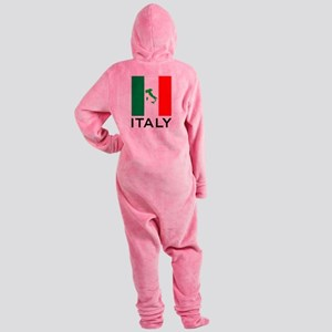 italy flag 00 Footed Pajamas