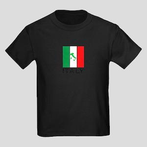italy flag 00 Kids Dark T-Shirt