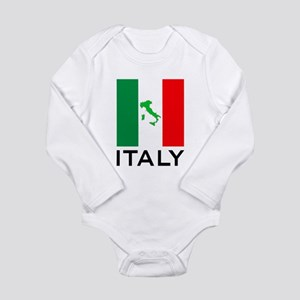 italy flag 00 Long Sleeve Infant Bodysuit