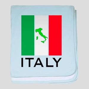 italy flag 00 baby blanket
