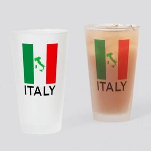 italy flag 00 Drinking Glass
