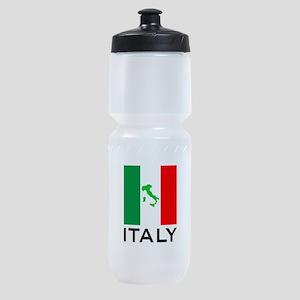 italy flag 00 Sports Bottle