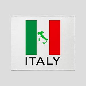 italy flag 00 Throw Blanket