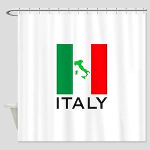 italy flag 00 Shower Curtain