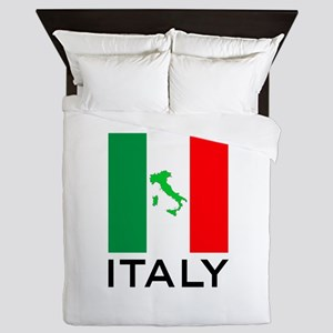 italy flag 00 Queen Duvet