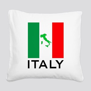italy flag 00 Square Canvas Pillow