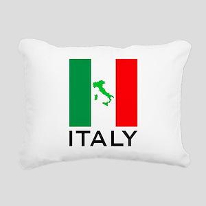 italy flag 00 Rectangular Canvas Pillow