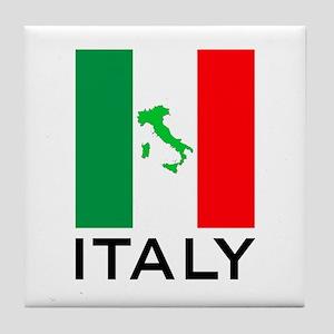 italy flag 00 Tile Coaster