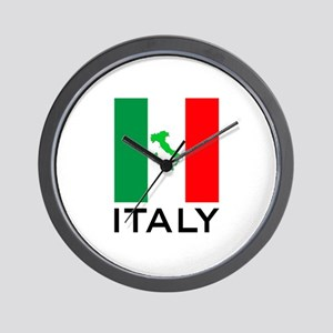 italy flag 00 Wall Clock