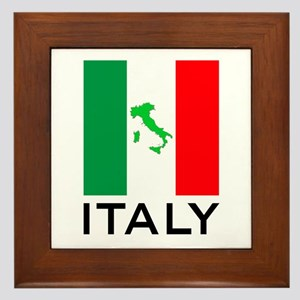 italy flag 00 Framed Tile