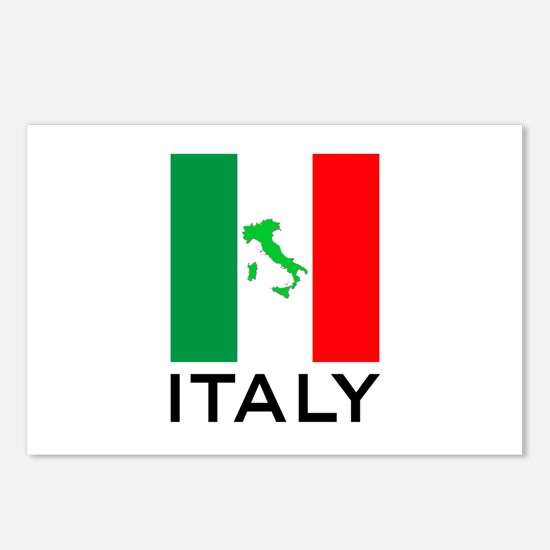 italy flag 00 Postcards (Package of 8)