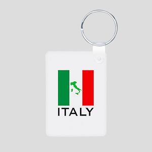 italy flag 00 Aluminum Photo Keychain