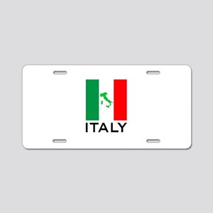 italy flag 00 Aluminum License Plate