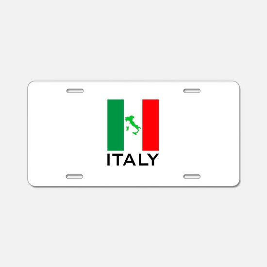 italy flag 00 Aluminum License Plate