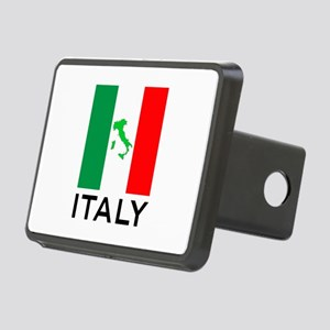 italy flag 00 Rectangular Hitch Cover