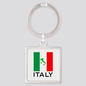 italy flag 00 Square Keychain