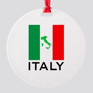 italy flag 00 Round Ornament