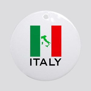 italy flag 00 Ornament (Round)
