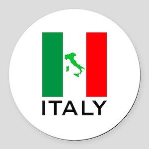 italy flag 00 Round Car Magnet