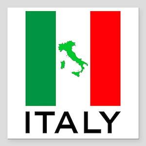 "italy flag 00 Square Car Magnet 3"" x 3"""