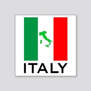 "italy flag 00 Square Sticker 3"" x 3"""