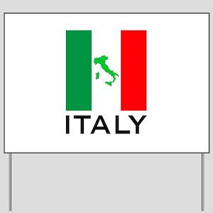 italy flag 00 Yard Sign