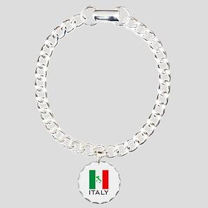 italy flag 00 Charm Bracelet, One Charm